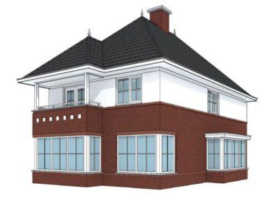 Klassieke woning met schildkap en erkers