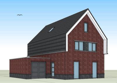 Modern eigentijdse woning met mansardekap en royale uitbouw