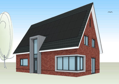 Moderne woning met industriële elementen