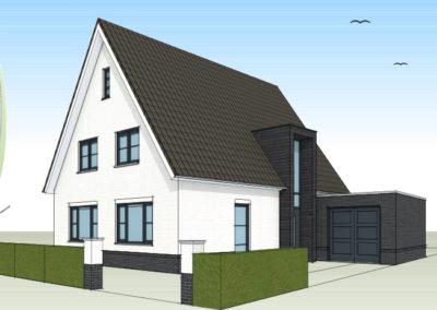 Modern landelijke woning met glasrisaliet