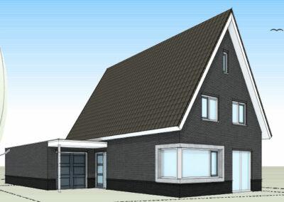 Moderne woning met slaap en badkamer op begane grond